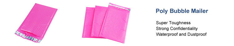 features of our pink poly bubble mailer