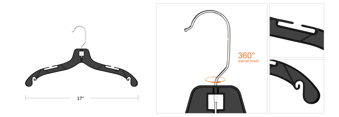 different angles to show you our plastic clothes hanger