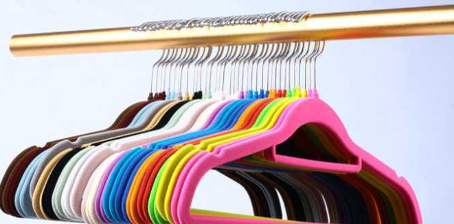 About flocking clothes hanger